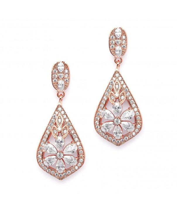 Mariell Clip Rose Gold Earrings