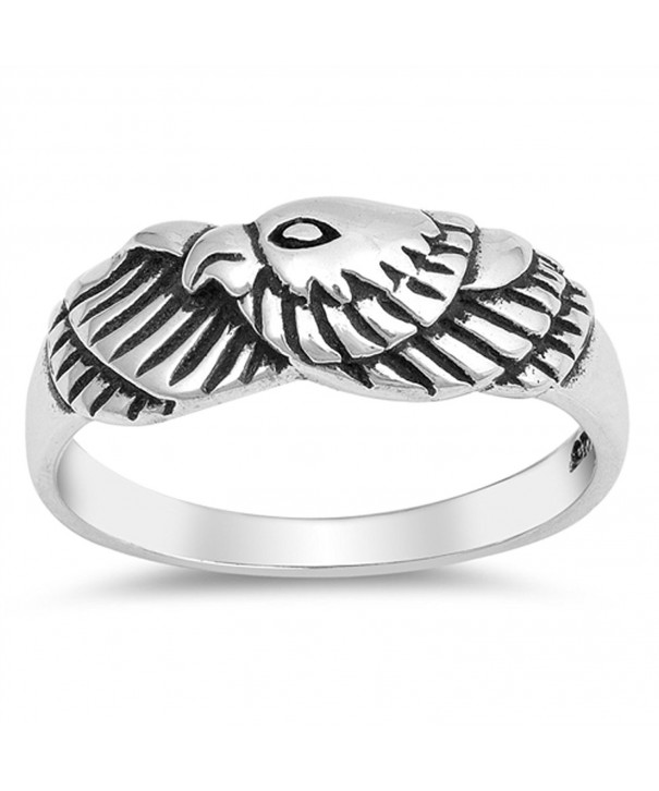 Oxidized American Patriot Sterling Silver