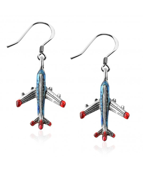 Whimsical Gifts Attendant Earrings Airplane