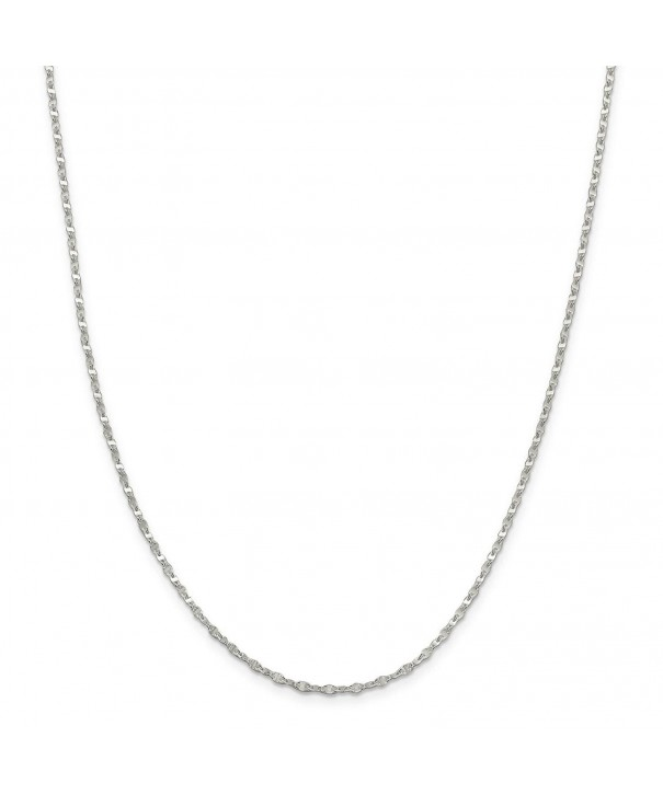 Sterling Silver 2 2mm Fancy Necklace