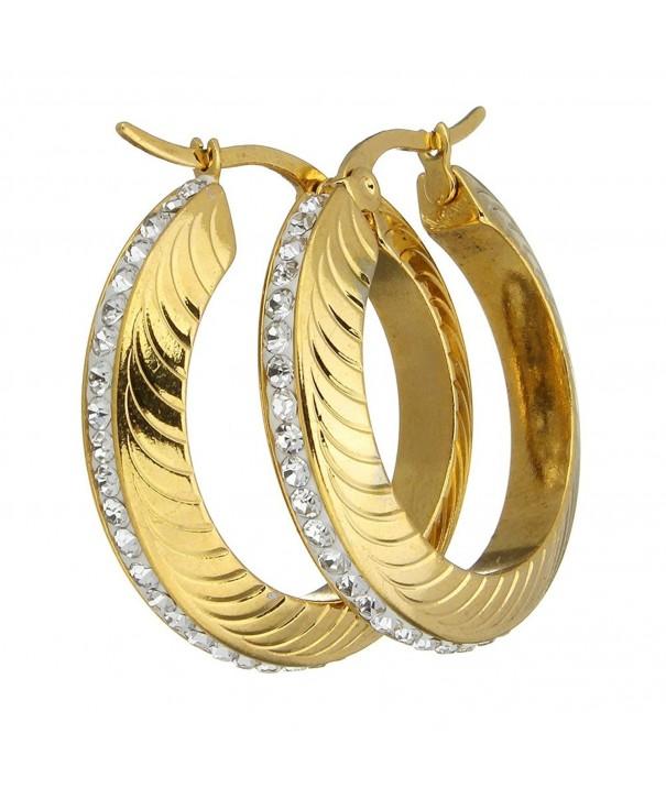 Stainless Plated Rhinestone Earrings 161104144012