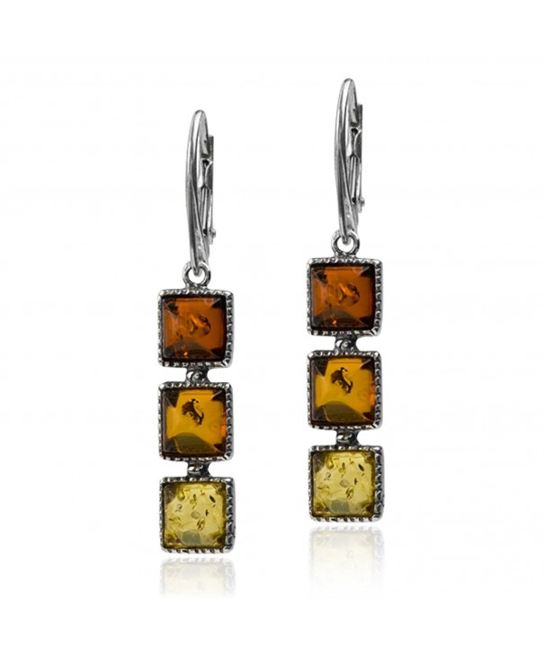 Sterling Multicolor Amber Colorful Leverback