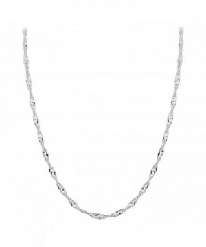 Gem Avenue Sterling Singapore Necklace