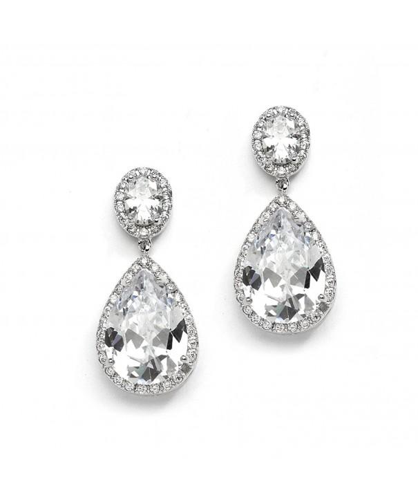 Mariell Teardrop Wedding Bridal Earrings