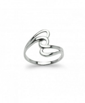 Interlock Knot Twisted Band Ring