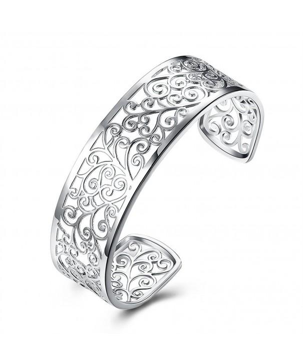 Sterling Silver Hollow bracelets Women