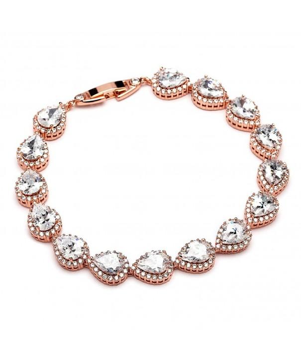Mariell Pear Shaped Zirconia Bracelet Wedding