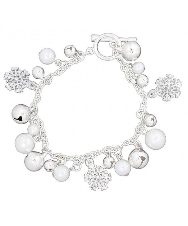 Periwinkle Snowflake Simulated Charms Bracelet