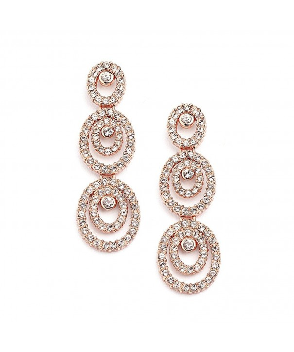 Mariell Concentric Genuine Chandelier Earrings