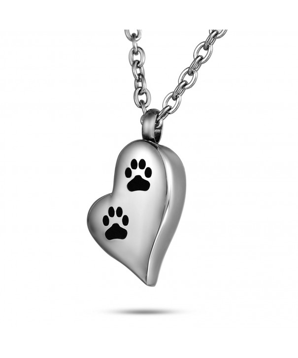 FCZDQ Cremation Necklace Footprint Memorial