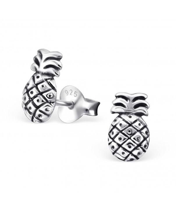 Sterling Silver Pineapple Earrings 27472