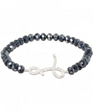 Heirloom Finds Crystal Monogram Bracelet