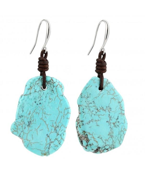 Bohemian Imitation Turquoise Earrings Genuine