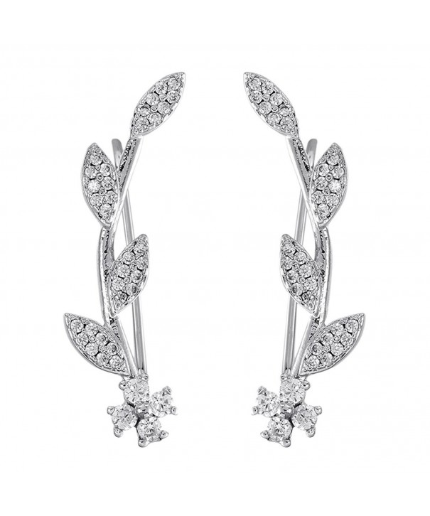 Crawler Earrings Women Climber Silver