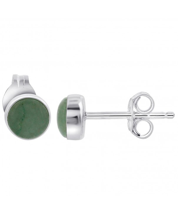 Gem Avenue Sterling Simulated Aventurine