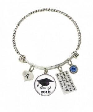 Bracelet Custom Graduation Silver Initial