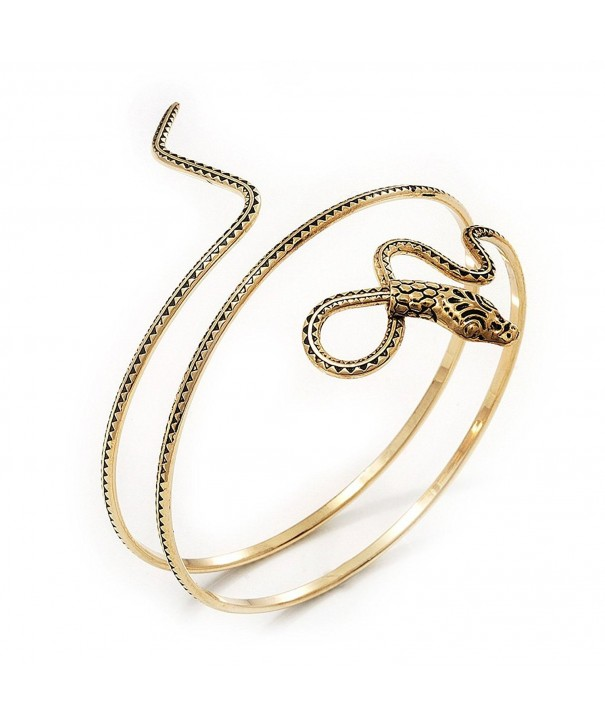 Antique Textured Snake Armlet Bangle