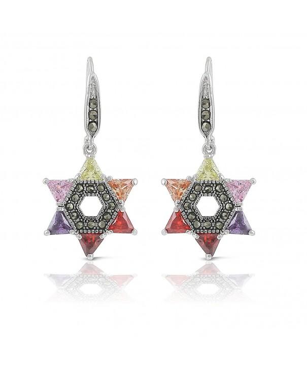 JanKuo Jewelry Multicolor Zirconia Marcasite