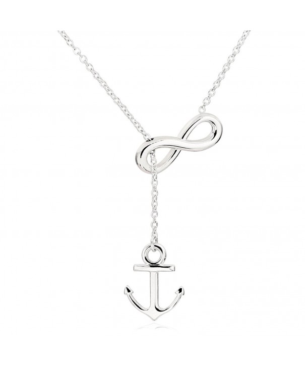 ELBLUVF Stainless Infinity Necklace 18inches