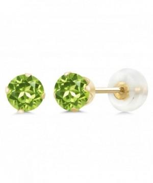 Peridot Gemstone Birthstone 4 prong Earrings