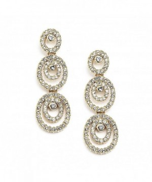 Mariell Concentric Genuine Fashion Earrings