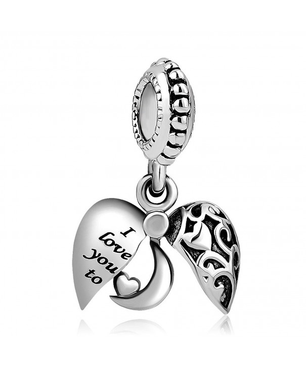 Heart Charms Openable Dangle Bracelets