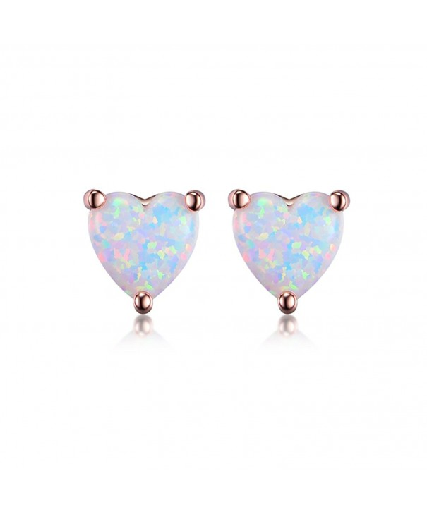 96804b01f GEMSME 18K Rose Gold Plated Opal Stud Earrings For Women With Many ...