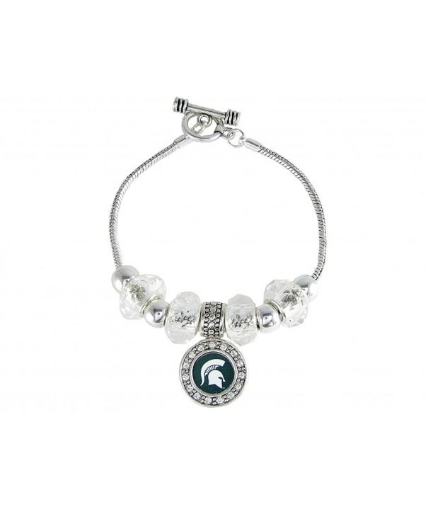 Michigan Spartans Slider Bracelet Jewelry