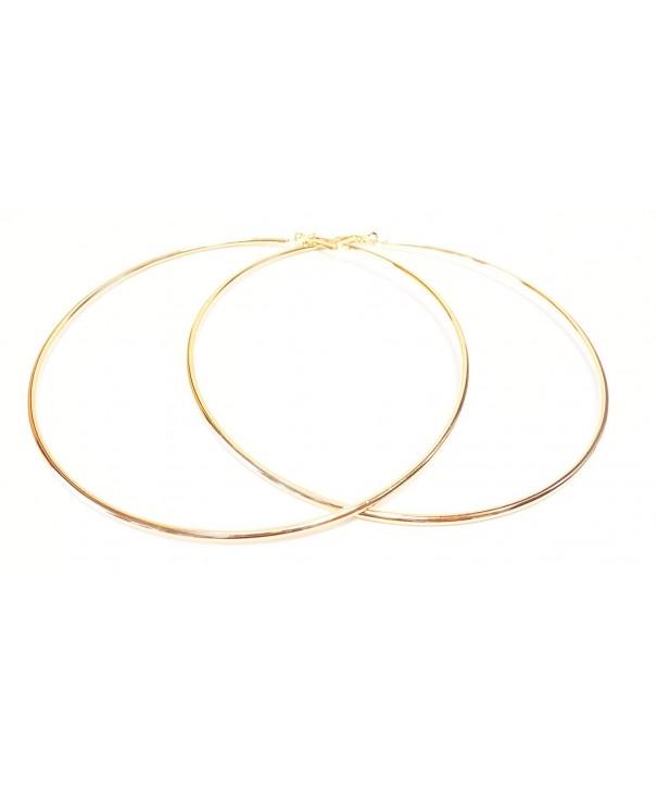 Large Hoop Earrings Simple Hoops