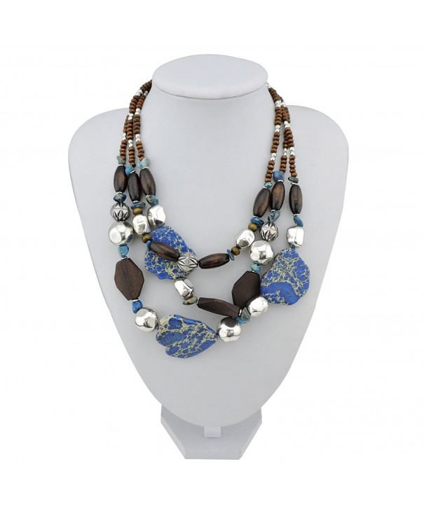 Personalized Turquoise Statement Necklace NK 10124 Baja
