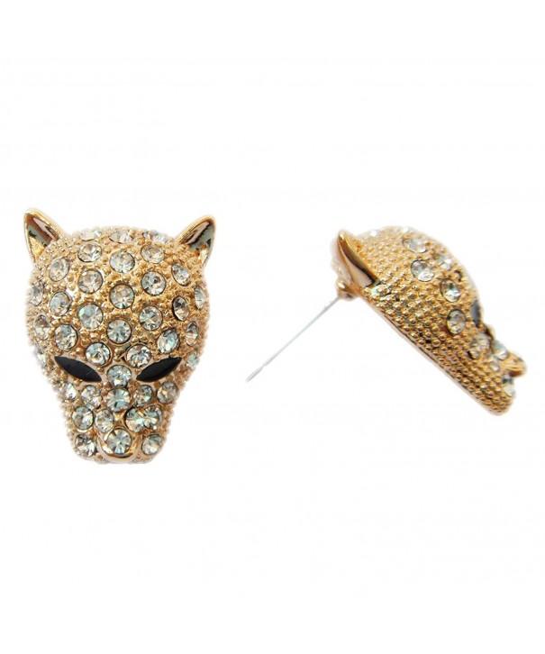 Navachi Leopard Crystal Az1050s Earrings