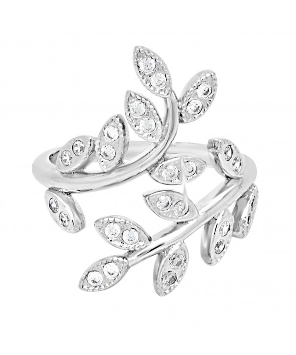 Sterling Silver Leaf Statement Ring