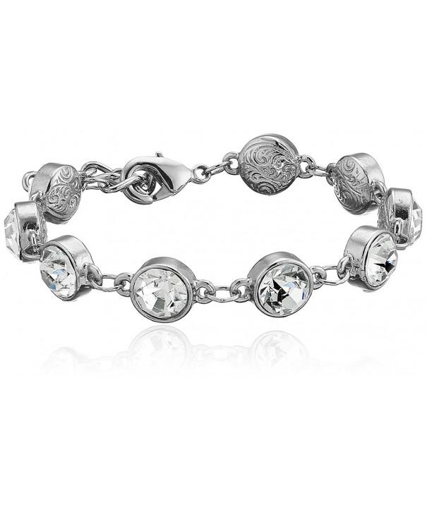 1928 Jewelry Silver Tone Adjustable Bracelet