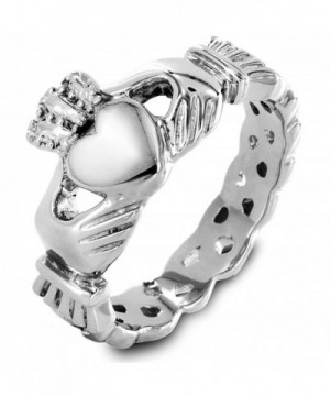 Stainless Womens Claddagh Engagement Wedding