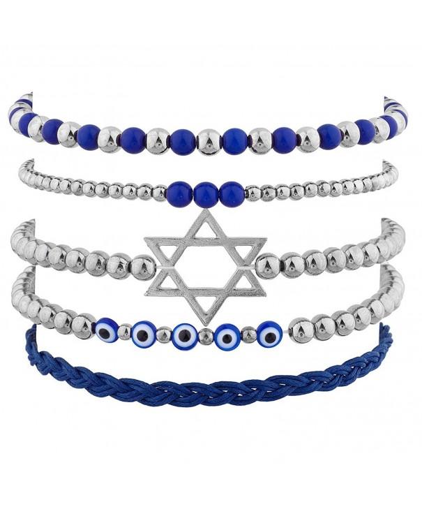 Lux Accessories Silvertone Jewish Hanukkah