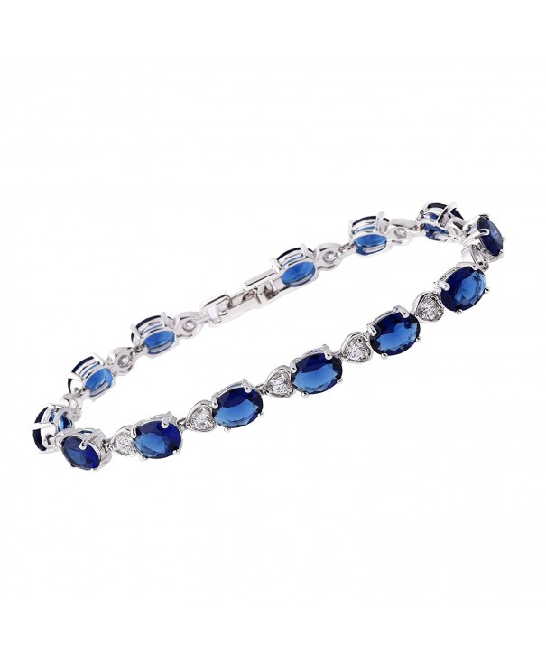 Sapphire Simulated Sparkling Birthstone Bracelets