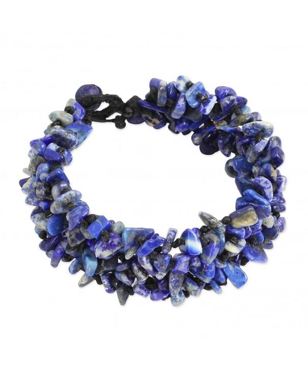 NOVICA Lapis Lazuli Beaded Bracelet