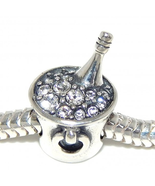 Sterling Silver Champagne Zirconia Bracelets