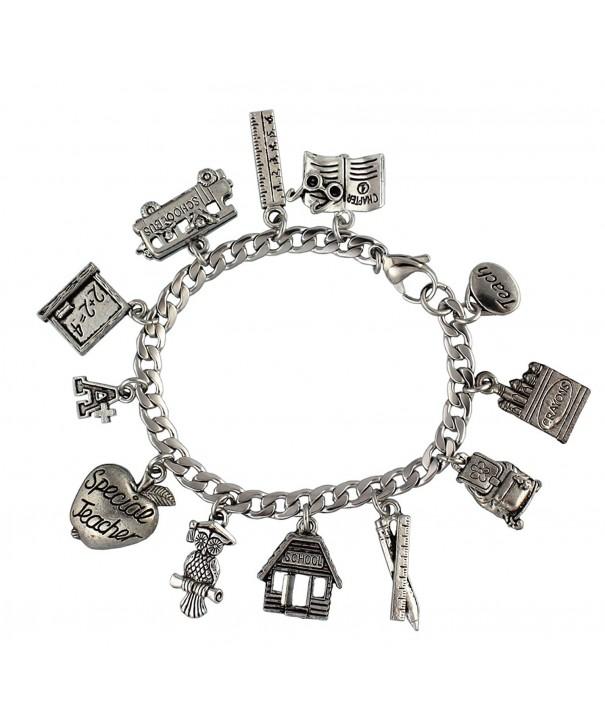 Special Teacher Stainless Pewter Bracelet