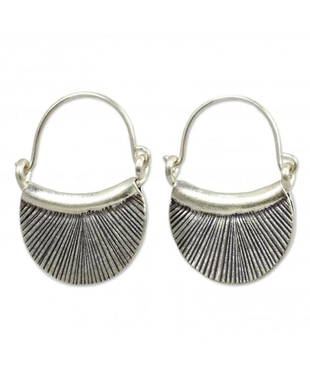NOVICA Handmade Endless Earrings Oxidized