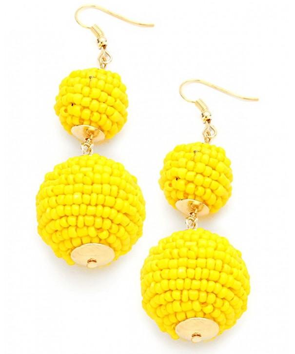 Womens Double Lantern Pierced Earrings