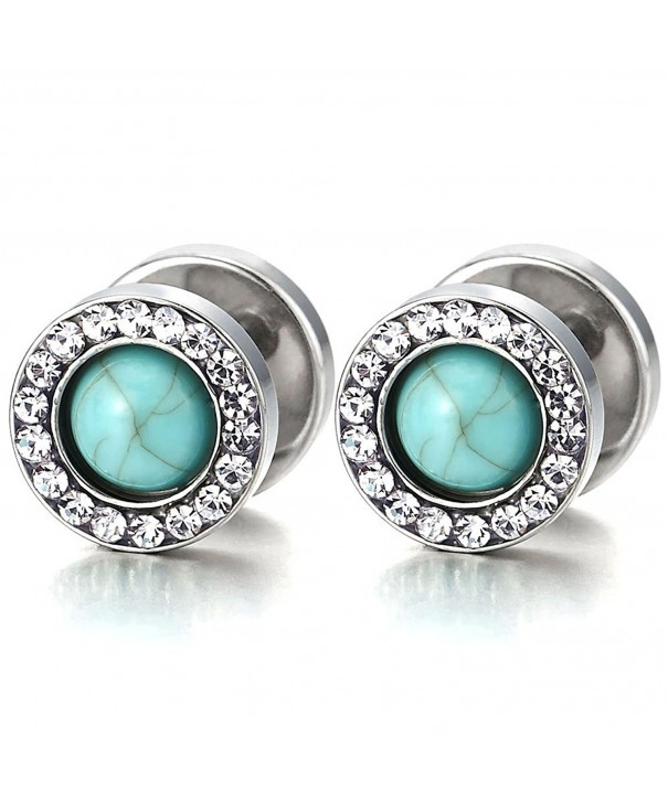 Earring Illusion Tunnel Synthetic Turquoise