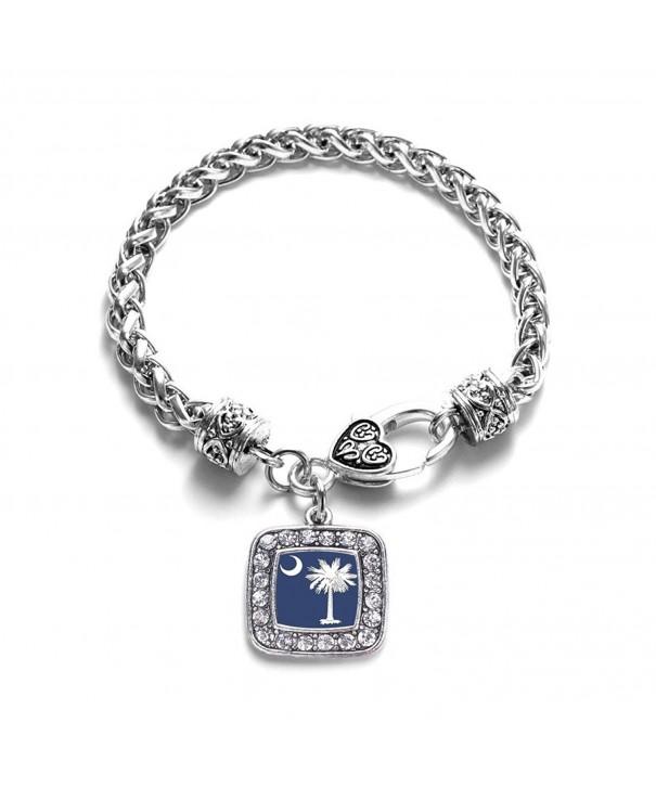 Carolina Classic Silver Crystal Bracelet