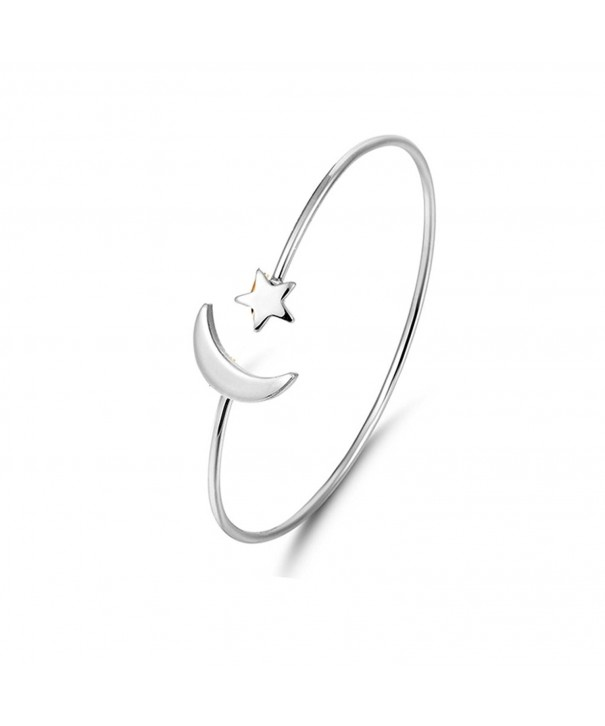 CHUYUN Silver Plated Bangle Bracelets