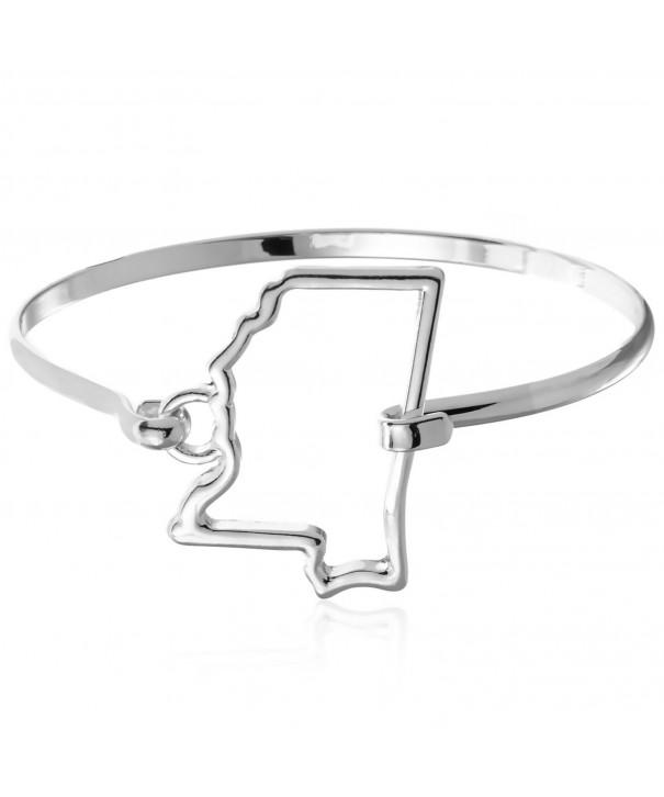 PammyJ Silvertone Mississippi Bangle Bracelet