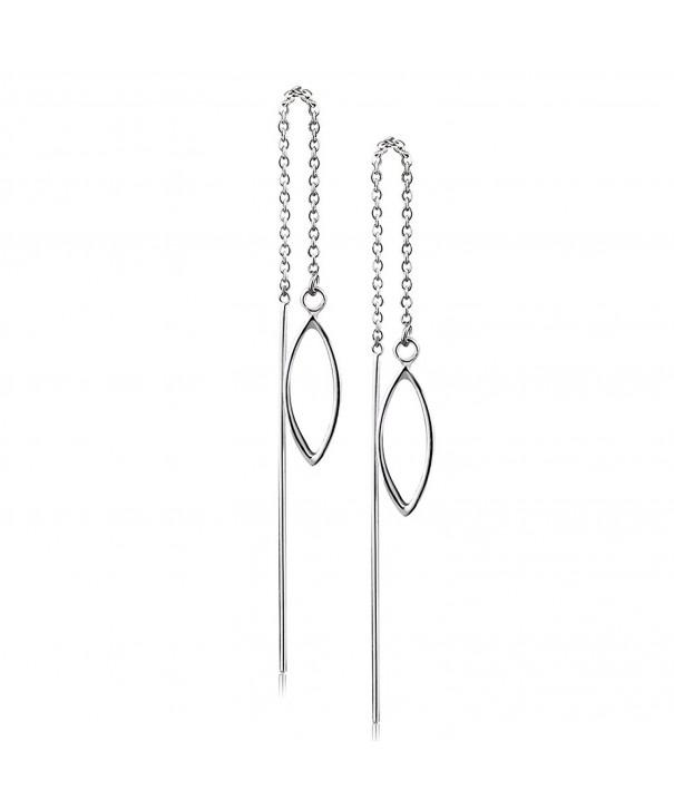 Sterling Threader Earrings Minimalist Backing