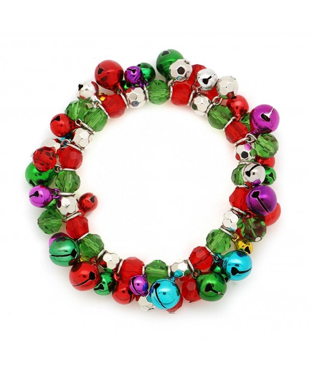 Multi Colored Christmas Stretch Bracelet Holiday