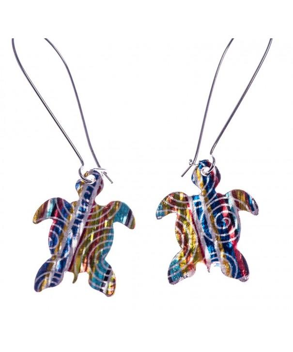 Womens Colored Turtle Earrings Shagwear