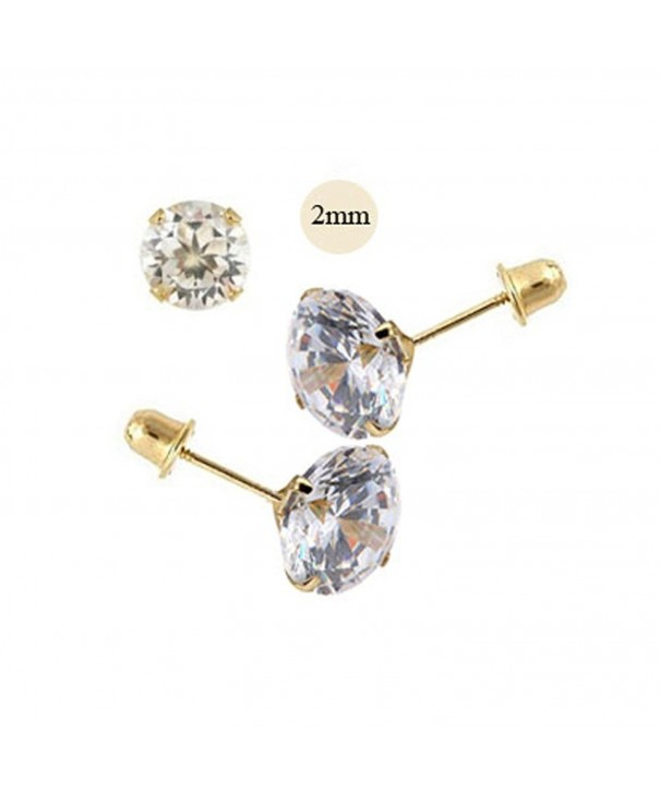 Simulated Diamond Earring Stamping Setting