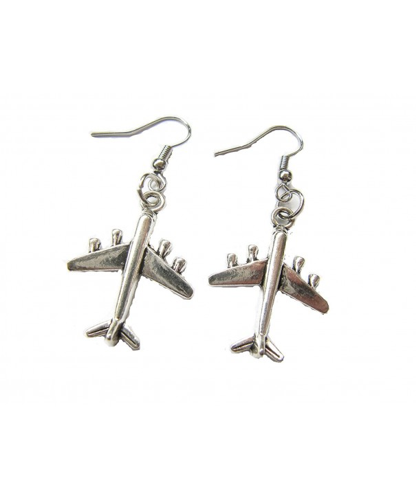 Airplane Earrings Travel Jewelry Distance